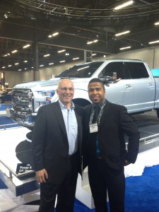 Jack Palazzolo and myself in front of the Ford Atlas at The Edmonton Motor Show.