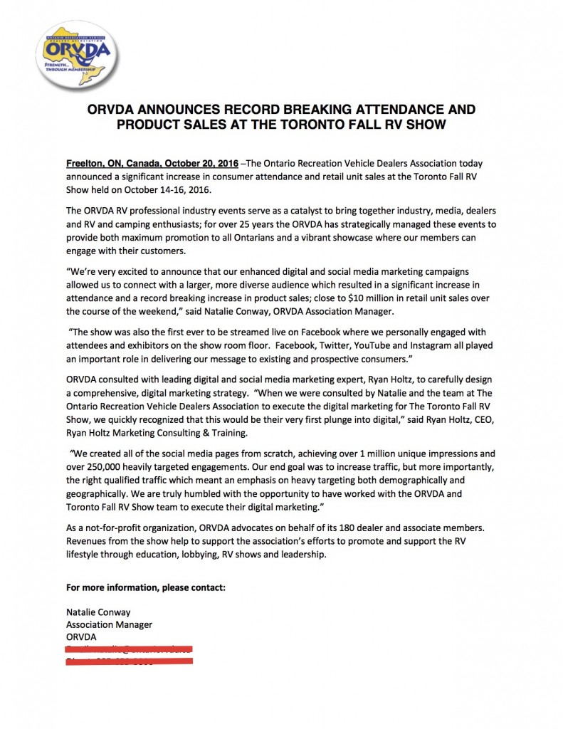 ORVDA Official Press Release