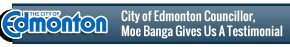 Councillor Moe Banga Testimonial